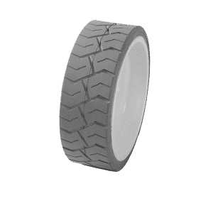 Boom Lift Tyre  White and Gray